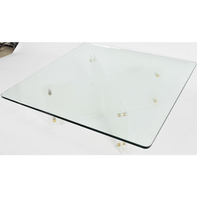 Large Glass & Acrylic Coffee Table by Neal Small - Image 2 of 6