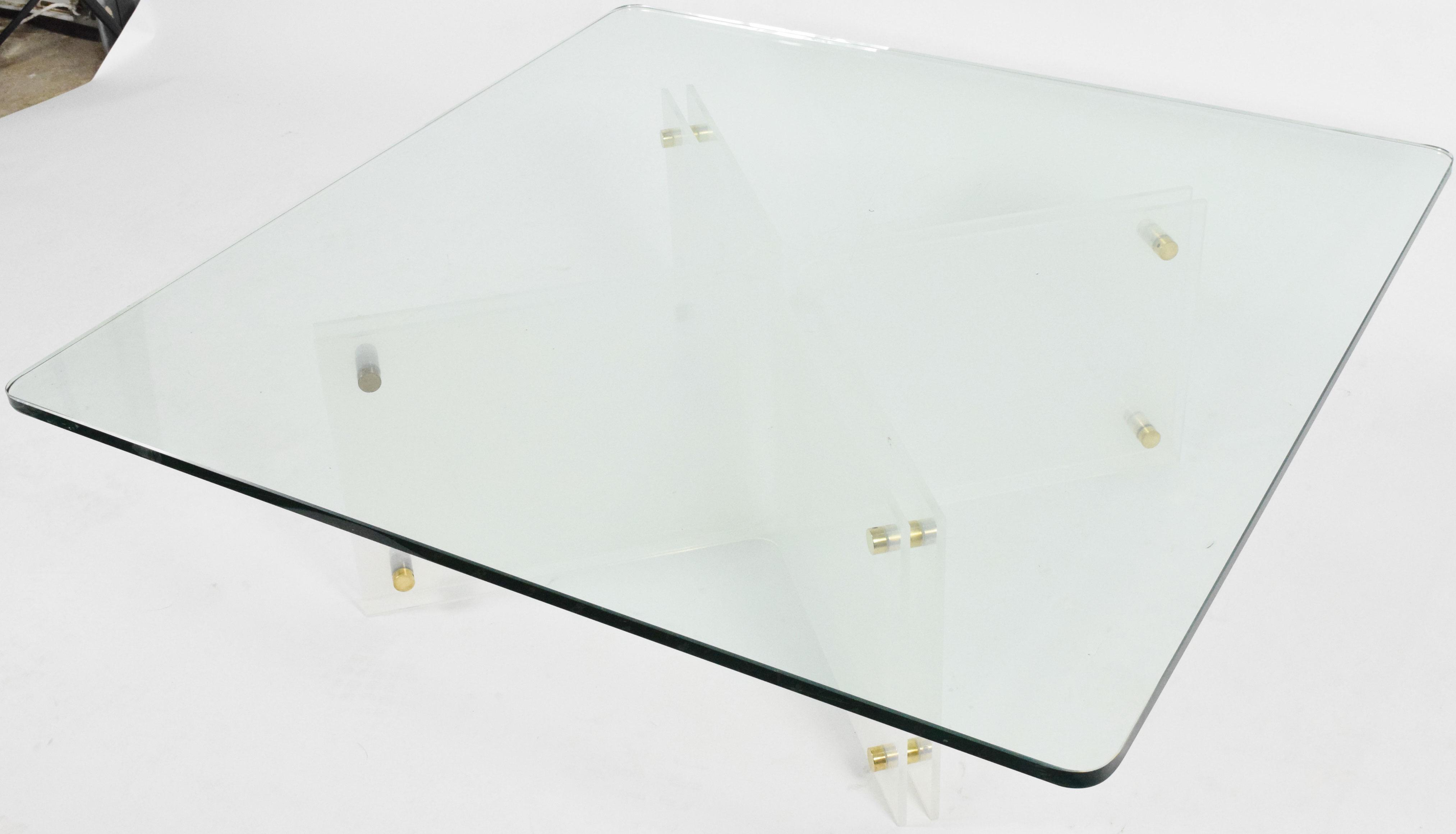 Large Glass U0026 Acrylic Coffee Table By Neal Small   Image 2 ...