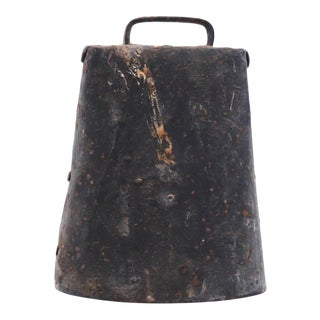 Vintage Metal Cow Bell For Sale