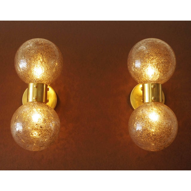 Brass Bailarina Duo Globe Sconce For Sale - Image 7 of 12