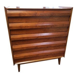 "Lane ""First Edition"" Mid-Century Highboy Dresser For Sale"