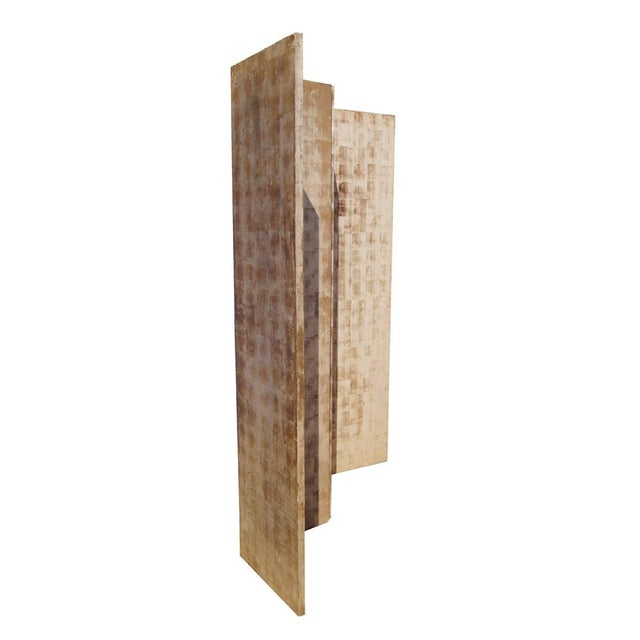 """Indonesian Style Wood Room Divider Folding panel divider Hand painted panels Each Panel- 18.5"""" Length 74"""" Length x 1.25""""..."""