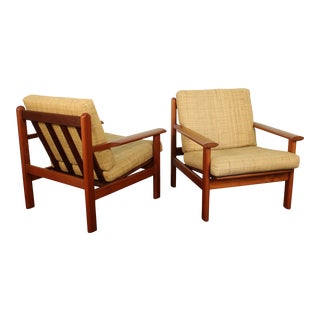 Poul M. Volther for Frem Røjle Model 390 Armchairs - a Pair