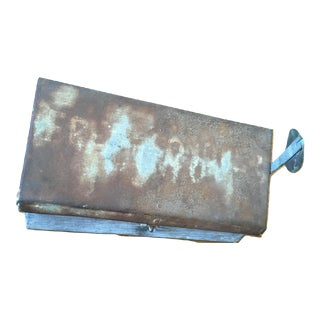 Vintage Galvanized Metal Mailbox For Sale