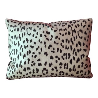 Pony Hair Cheetah Print Boudoir Pillow With Suede Back For Sale