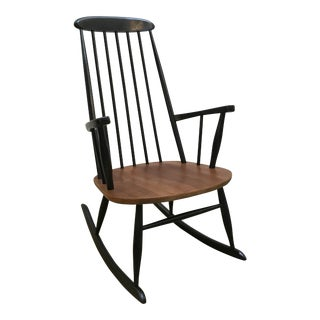 Mid-Century Tapiovaara Style Rocking Chair