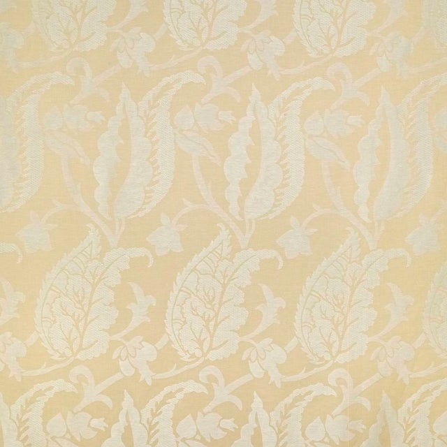 Suzanne Tucker Home Jacqueline Linen Blend Jacquard in Straw For Sale