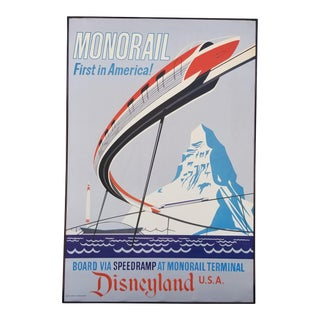Disneyland Attraction Poster Monorail For Sale