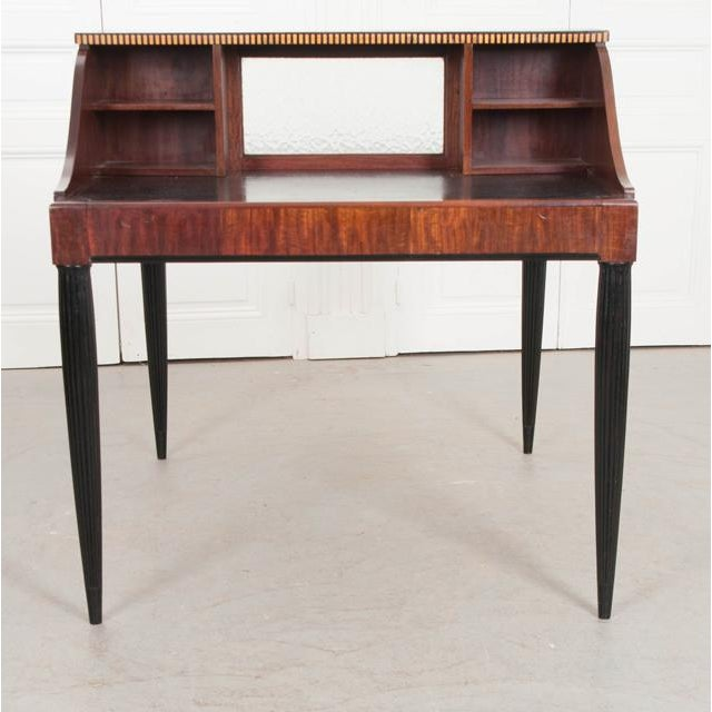 French Early 20th Century Art Deco Mahogany Partners Desk For Sale In Baton Rouge - Image 6 of 11