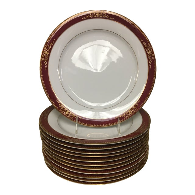 Noritake Goldmere Dinner Plates - Set of 12 For Sale