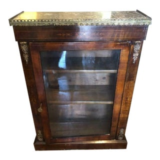 Antique Walnut Music Cabinet For Sale
