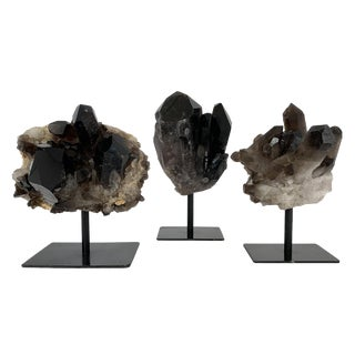 Smoky Quartz Crystal Mounted Mineral Specimens For Sale