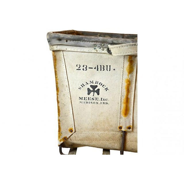 Large Industrial Canvas Laundry Bin - Image 6 of 6
