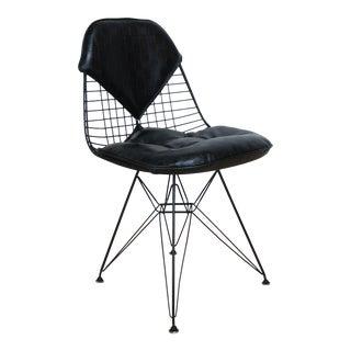 Mid-Century Eames Black Vinyl DKR Bikini Pad Chair