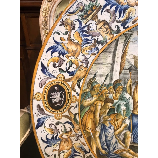 Late 19th Century Large 19th Century Italian Faience Charger For Sale - Image 5 of 10