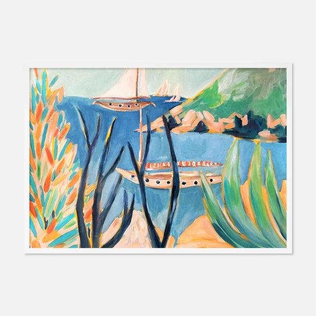 Porto Ercole 2 by Lulu DK in White Framed Paper, Medium Art Print For Sale - Image 4 of 4