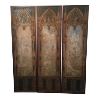 Luigi M Bonpensiere Gothic Aesthetic Movement Panels - Set of 3 For Sale