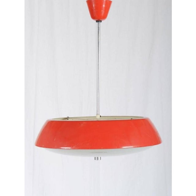 Josef Hurka Mid-Century Hanging Lamp by Josef Hurka, 1965 For Sale - Image 4 of 6