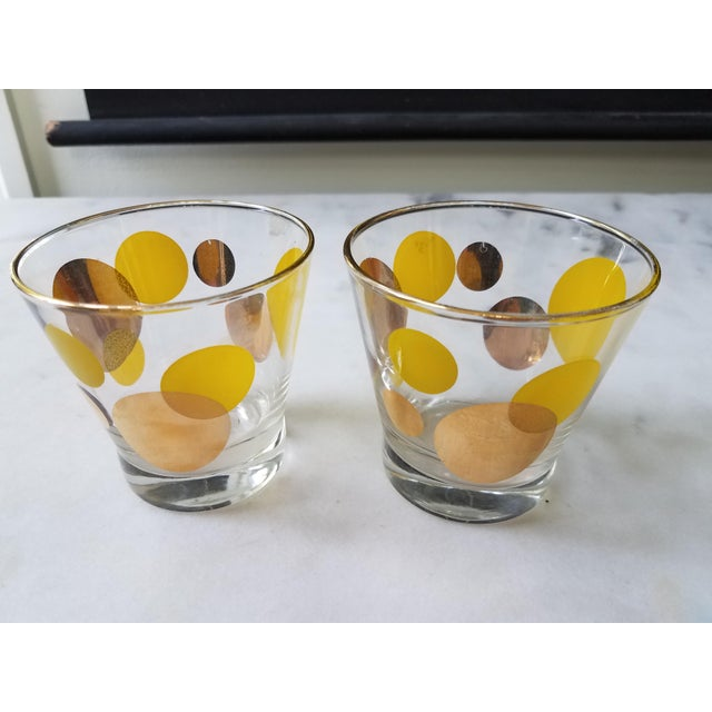 Russel Wright Mid-Century Eclipse Gold Cocktail Glasses - Set of 6 - Image 4 of 10