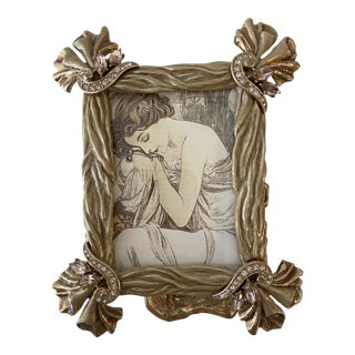 Late 20th Century Jay Strongwater Enamel and Jeweled Picture Frame For Sale