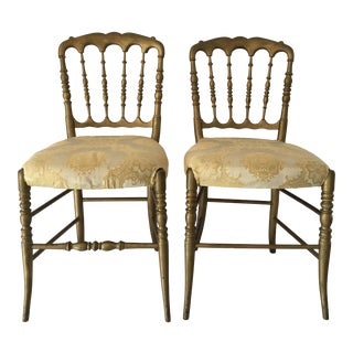 1950s Vintage Hollywood Regency Side Chairs- a Pair For Sale