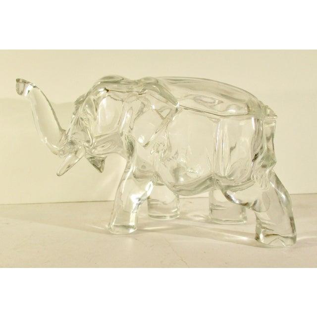 Glass Elephant Shaped Decorative Jar For Sale - Image 7 of 7