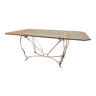 Wrought Iron & Glass Dining Table
