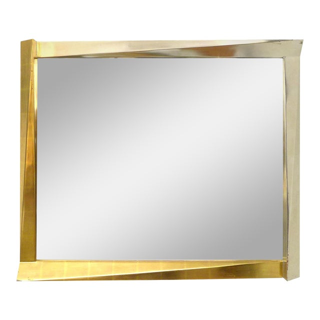Cubist Giltwood-Framed Mirror For Sale