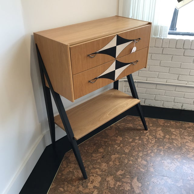 Mid-Century Tall V Leg Cabinet For Sale In Dallas - Image 6 of 7