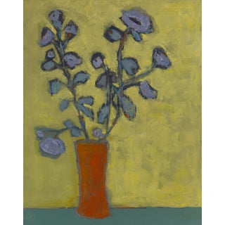 """Periwinkle"" Abstract Floral Painting Oil on Canvas by Bill Tansey For Sale"