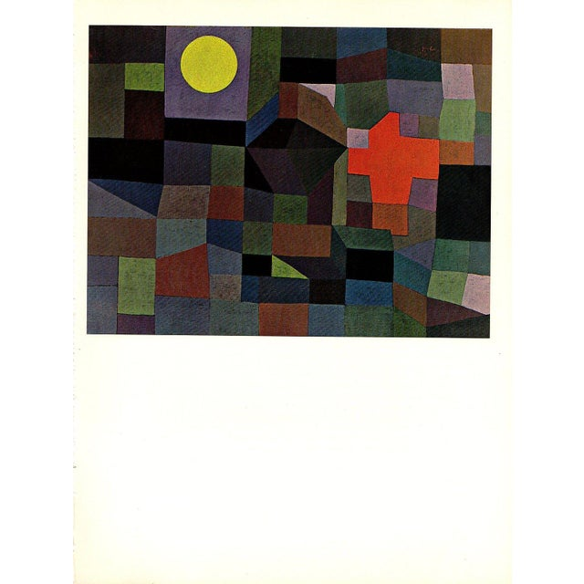 """Paul Klee Vintage 1967 Original Lithograph Print """"Fire at Full Moon"""", 1933 - Image 5 of 7"""