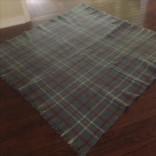 Vintage Plaid Wool Blend Blanket - Image 7 of 11