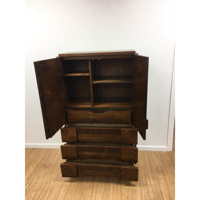 Brutalist Armoire by Lane For Sale In Los Angeles - Image 6 of 13