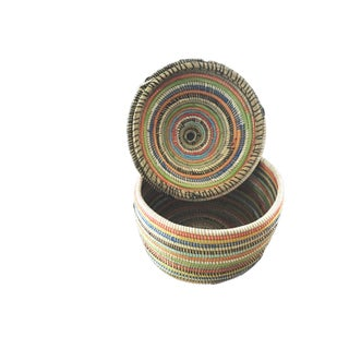 "Basket W/ Lid Senegal West Africa 14.5"" Preview"