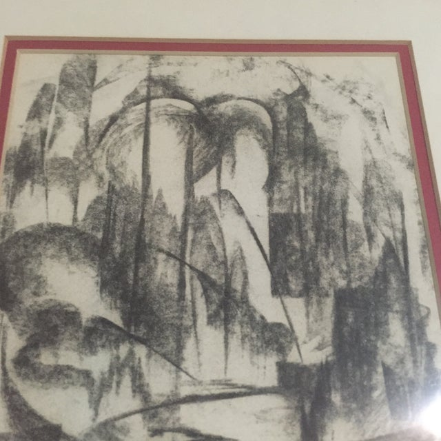 Mid-Century Signed Original Abstract Art - Image 4 of 6