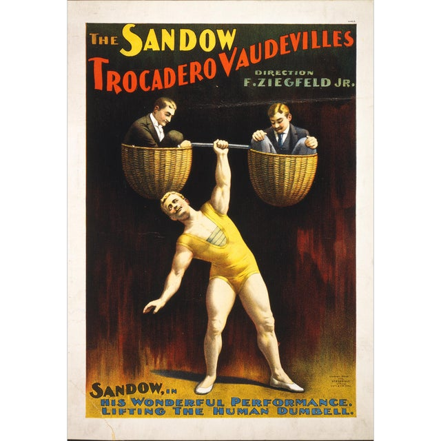"""The Sandow"" Reproduction 1800s Vaudeville Poster Print - Image 1 of 4"