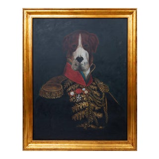 Royal Formal Attired Dog Portrait Oil Painting For Sale