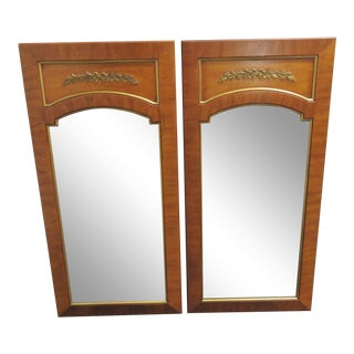 Directoire Fruitwood & Brass Mirrors - a Pair For Sale