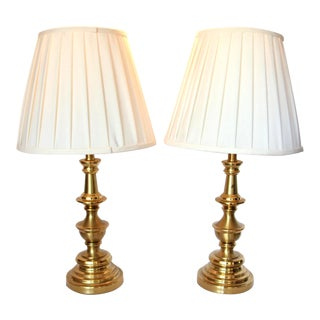 Mid-Century Stiffel Brass Lamps - a Pair For Sale