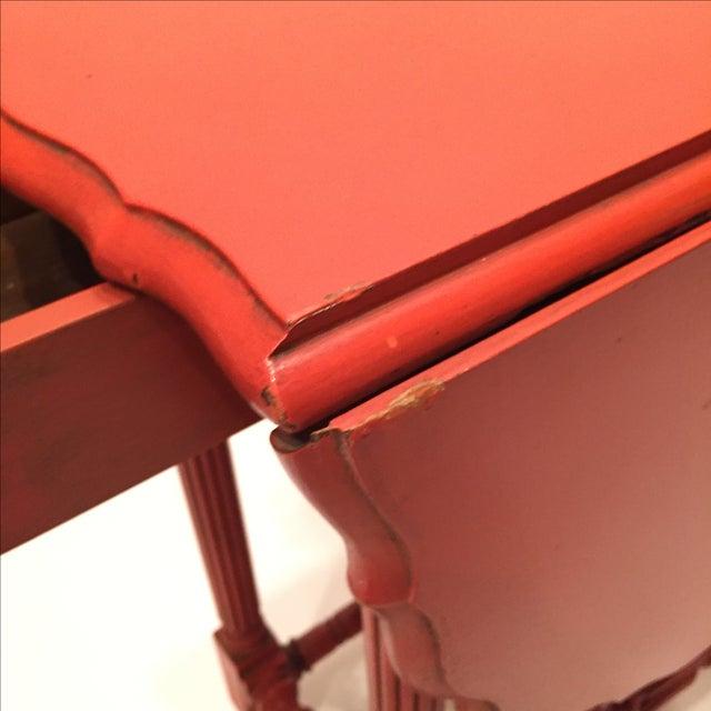 Vintage Orange Drop Leaf Table - Image 10 of 11