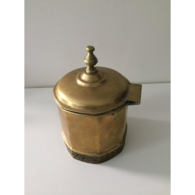Primitive Moorish Brass Octagonal Kettle / Container For Sale In New York - Image 6 of 9