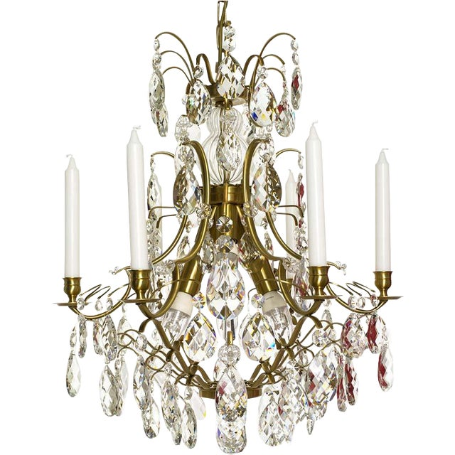 Baroque Six-Light Chandelier For Sale
