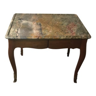 Marble Top 19th Century Louis XV Style Table