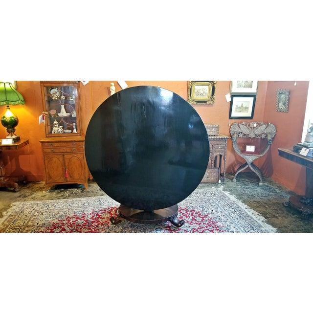Black British Regency Tilt Top Center Table For Sale - Image 8 of 9