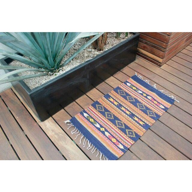 """Mexican Pedal-Loom Rug - 2' x 3'3"""" - Image 4 of 4"""