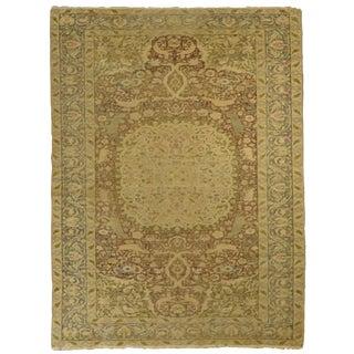 Antique Anatolian Kaiserie Silk Rug For Sale