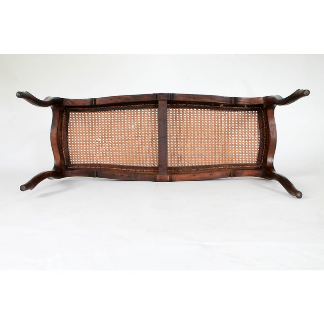 Caned French Provincial Bench - Image 8 of 11