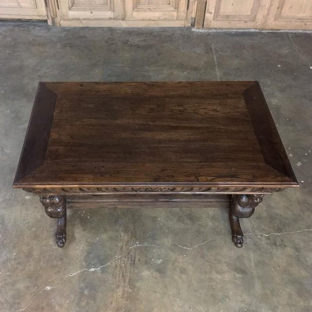 19th Century Renaissance Library Table With Gryffins For Sale In Dallas - Image 6 of 12