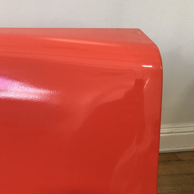 Kartell Piero Lissoni Orange Form Lounge Chair For Sale In San Francisco - Image 6 of 11