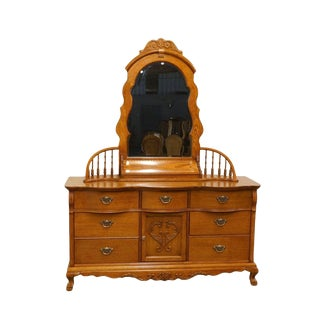 Lexington Victorian Sampler Triple Dresser and Mirror For Sale